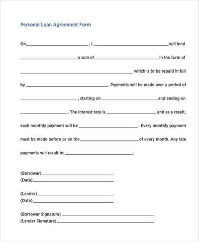 7+ Personal Loan Agreement Form Samples - Free Sample, Example Format Download
