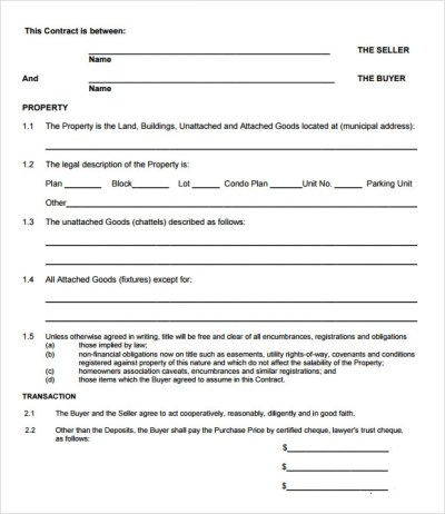10+ Sample Offer to Purchase Real Estate Forms | Sample Templates