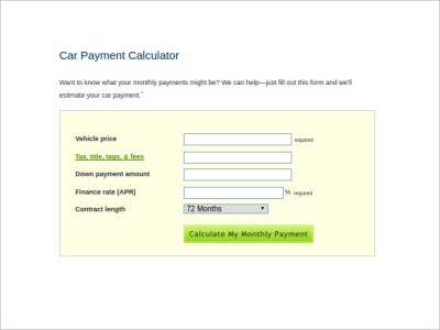 9+ Sample Car Loan Calculators | Sample Templates
