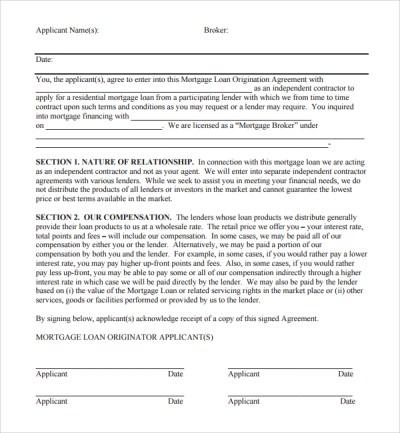 11+ Mortgage Agreement Templates | Sample Templates