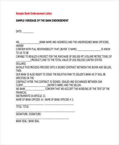 22+ Endorsement Letter Samples & Templates - PDF, DOC