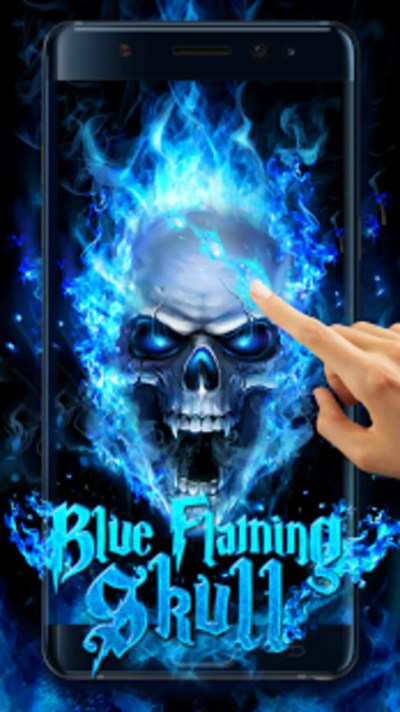 Blue Fire Skull Live Wallpaper for Android - Download