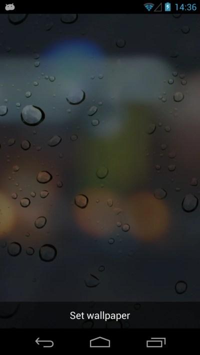 Rain Drops 3D Live Wallpaper for Android - Download