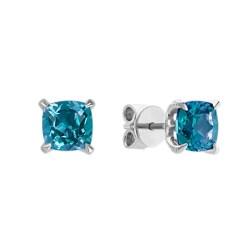 Small Of Blue Topaz Earrings