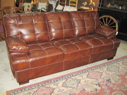 LaCrosse+Queen+Brown+Bonded+Leather+Sleeper