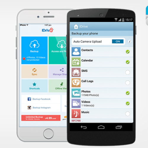 Get A Lifetime Of Unlimited Mobile Backup From IDrive For $10 (Orig. $50)
