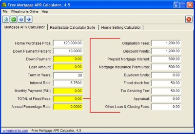 Free Mortgage APR Calculator - standaloneinstaller.com