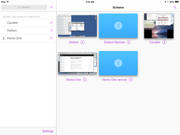 screens ipad list