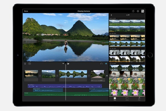 ipad pro imovie stock