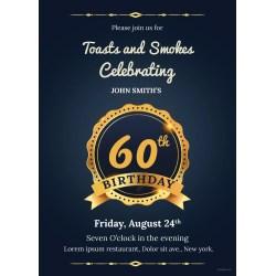 Small Crop Of 60th Birthday Invitations