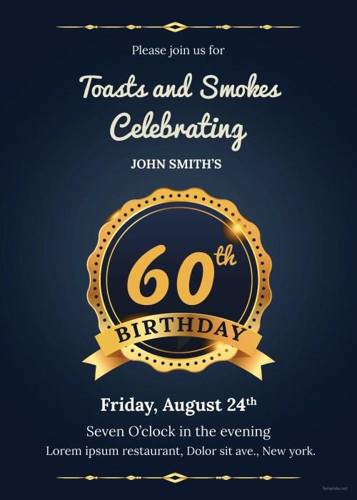 Medium Of 60th Birthday Invitations