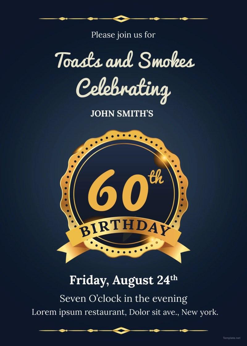 Large Of 60th Birthday Invitations