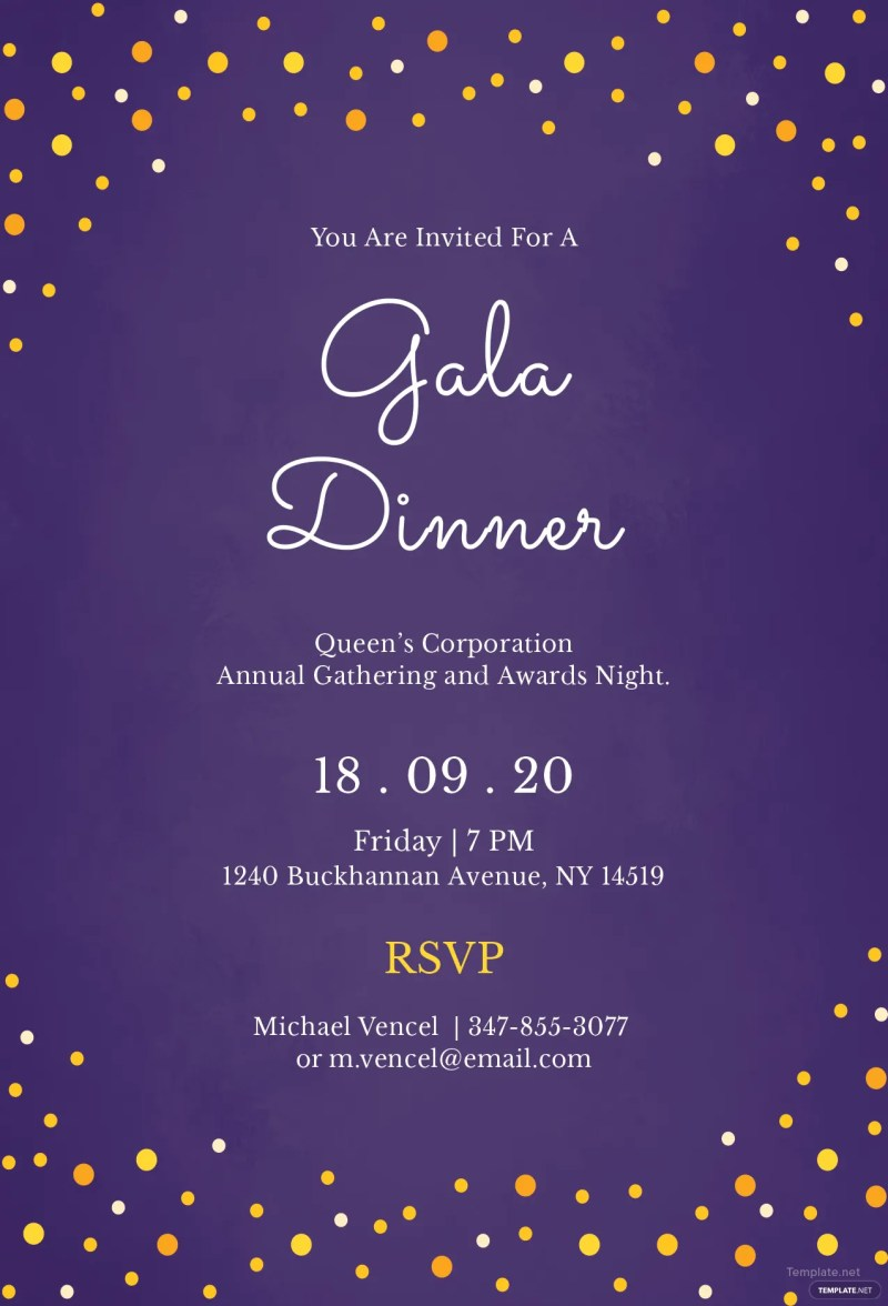 Large Of Dinner Invitation Template