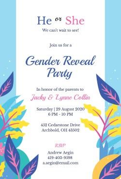 Peachy Gender Reveal Invitation Template Free Gender Reveal Invitation Template Microsoft Microsoft Gender Reveal Invitations Gender Reveal Invitations Spanish