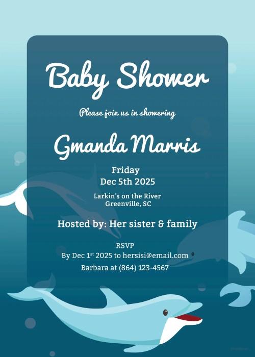 Medium Of Printable Baby Shower Invitations