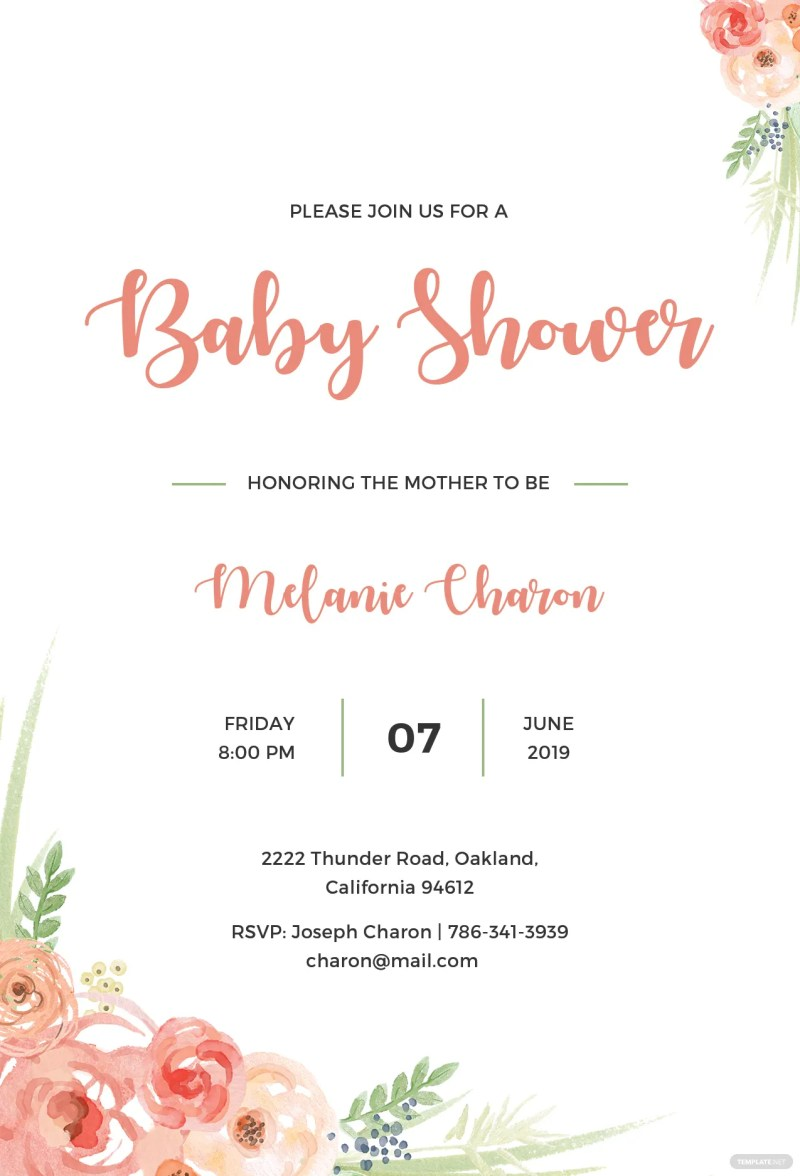 Large Of Baby Shower Invitation Templates
