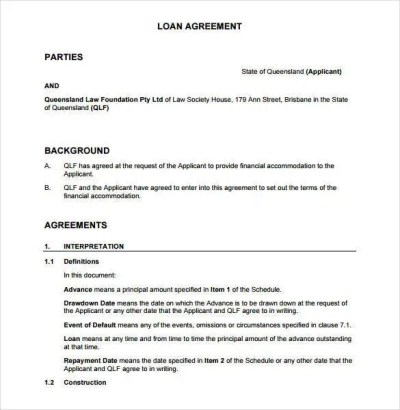 27+ Loan Contract Templates – Word, Google Docs, Apple Pages   Free & Premium Templates