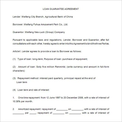 Loan Contract Template – 20+ Free Word, PDF Documents Download | Free & Premium Templates