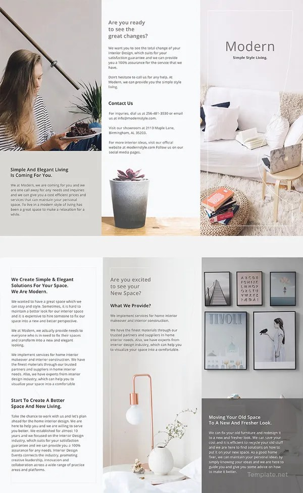 31  Modern Brochure Design Templates     PSD  InDesign  Illustration     Modern Brochure Template