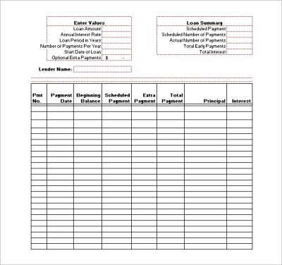 Excel Loan Amortization Template - loan amortization schedule archives my excel templatesexcel ...