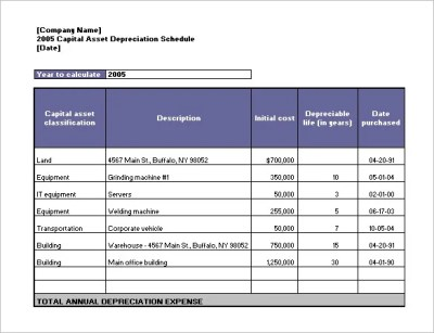Excel Amortization Schedule Download - depreciation schedule template 10 free word excel pdf ...