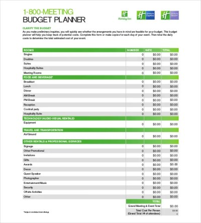 Budget Planner Template – 9+ Free Word, Excel, PDF Documents Download   Free & Premium Templates