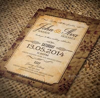 23+ Vintage Wedding Invitation- Free PSD Format Download ...
