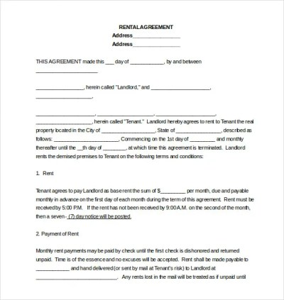16+ Lease Agreement Templates – Word, PDF, Pages | Free & Premium Templates