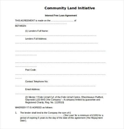 19+ Loan Agreement Templates – Free Word, PDF Format Download | Free & Premium Templates