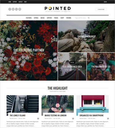 30+ News Blog WordPress Themes & Templates | Free ...