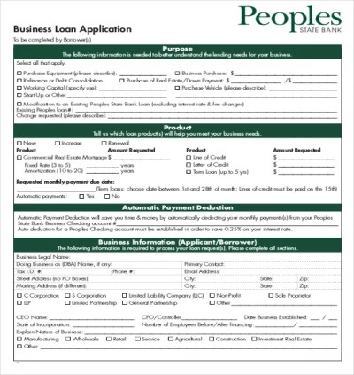 Loan Application Templates - 7+ Free Sample, Example, Format Download!   Free & Premium Templates