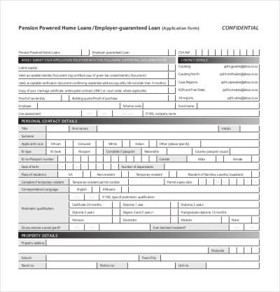 10+ Loan Application Templates - PDF, DOC | Free & Premium Templates