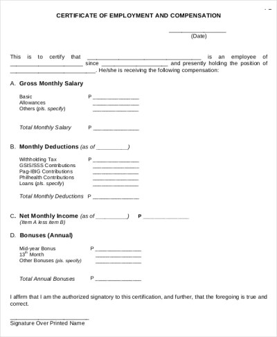 27+ Sample Certificate of Employment Templates - PDF, DOC, PSD, AI, InDesign, Apple Pages ...