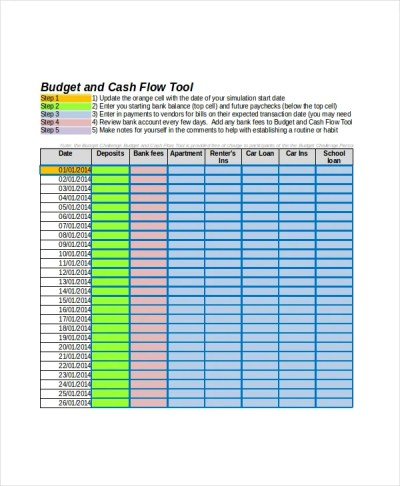 Cash Flow Excel Template - 13+ Free Excels Download | Free & Premium Templates