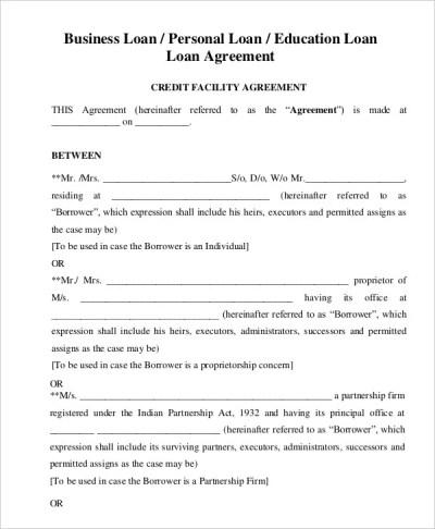 Loan Agreement Template - 20+ Free Word, PDF Format | Free & Premium Templates