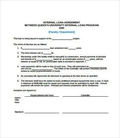 Simple Loan Agreement - 10+ Free PDF, Word Documents Download | Free & Premium Templates