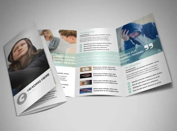 6  Depression Brochures   Printable PSD  AI  InDesign  Vector EPS     Depression Counseling Brochure