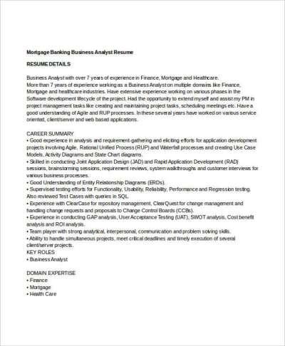 20+ Simple Banking Resume Templates - PDF, DOC   Free & Premium Templates