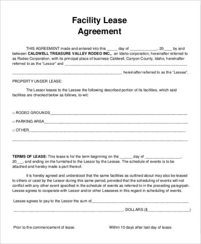9+ Facility Agreement Templates - Free Sample, Example Format Download | Free & Premium Templates