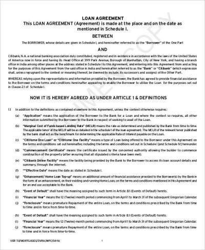 Mortgage Contract Templates - 6+ Free PDF Format Download | Free & Premium Templates