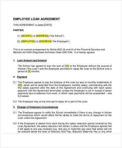 30+ Loan Agreement Templates - Word, PDF, Pages | Free & Premium Templates