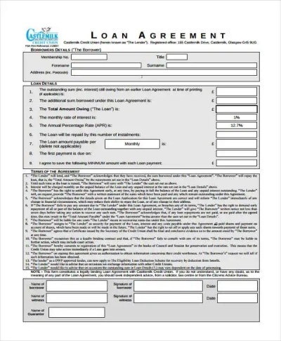 20+ Loan Agreement Form Templates - Word, PDF, Pages   Free & Premium Templates