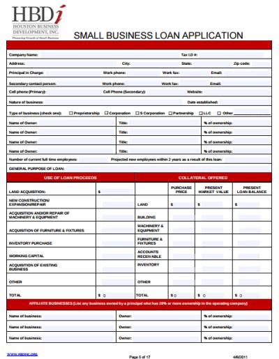 9+ Business Loan Application Form Templates - PDF | Free & Premium Templates