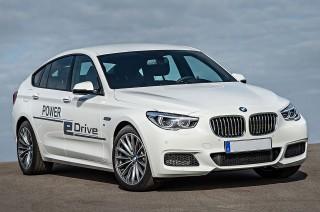BMW 5-Series GT development prototype for Power eDrive plug-in hybrid system, Nov 2014