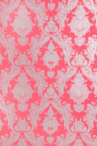 Damsel Removable Wallpaper - Coral - Urban Outfitters