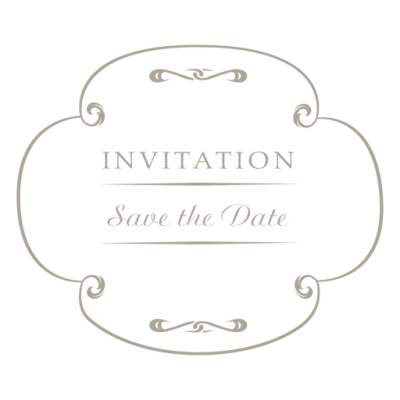 Round wedding invitation label 4 - Transparent PNG & SVG ...