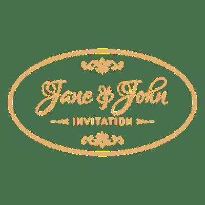 Wedding invitation badge 2 - Transparent PNG & SVG vector