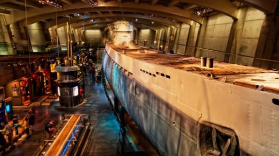 Il Museo della scienza e dell'industria a Chicago, in Illinois.
