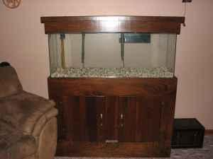 SOLD   55 Gallon Aquarium with Matching Wooden Stand and Cover   $125