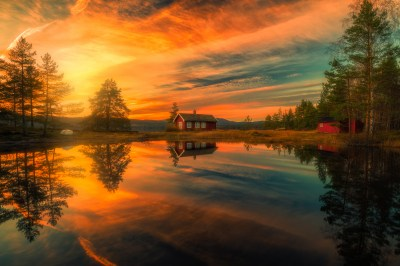 Sunset over House on the Lake HD Wallpaper | Hintergrund | 2048x1367 | ID:746448 - Wallpaper Abyss